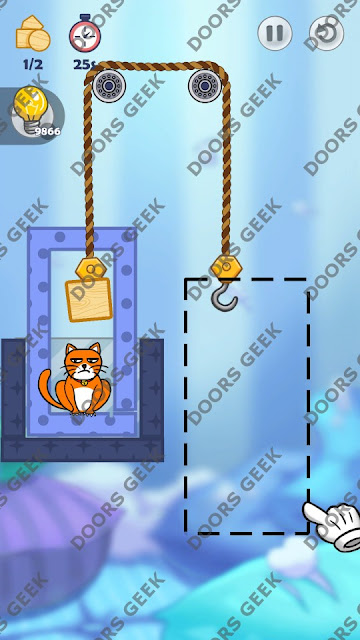 Hello Cats Level 68 Solution, Cheats, Walkthrough 3 Stars for Android and iOS