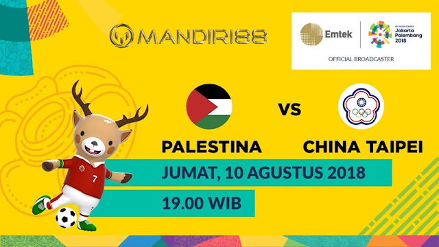 Prediksi Palestina U-23 Vs China Taipei U-23, Jumat 10 Agustus 2018 Pukul 19.00 WIB @ TVRI