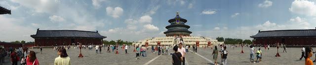 Panorámica de la plaza del Templo del Cielo