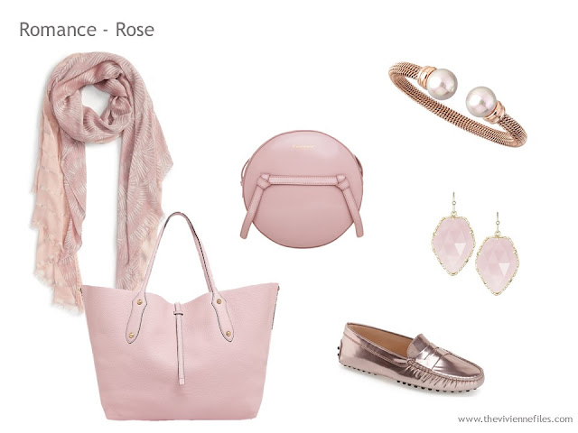 Adding Accessories to a Capsule Wardrobe in 13 color families - pink