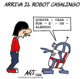 robot, tecnologia, fantascienza, umorismo, vignetta