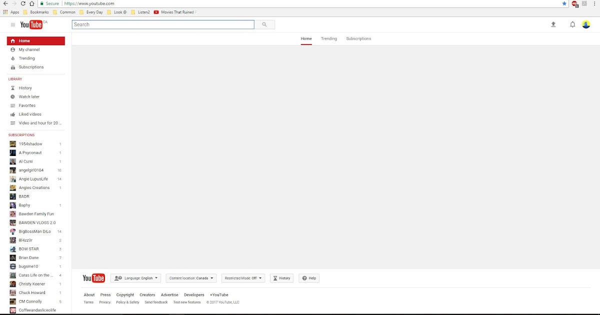 Some YouTube Bugs I've Had