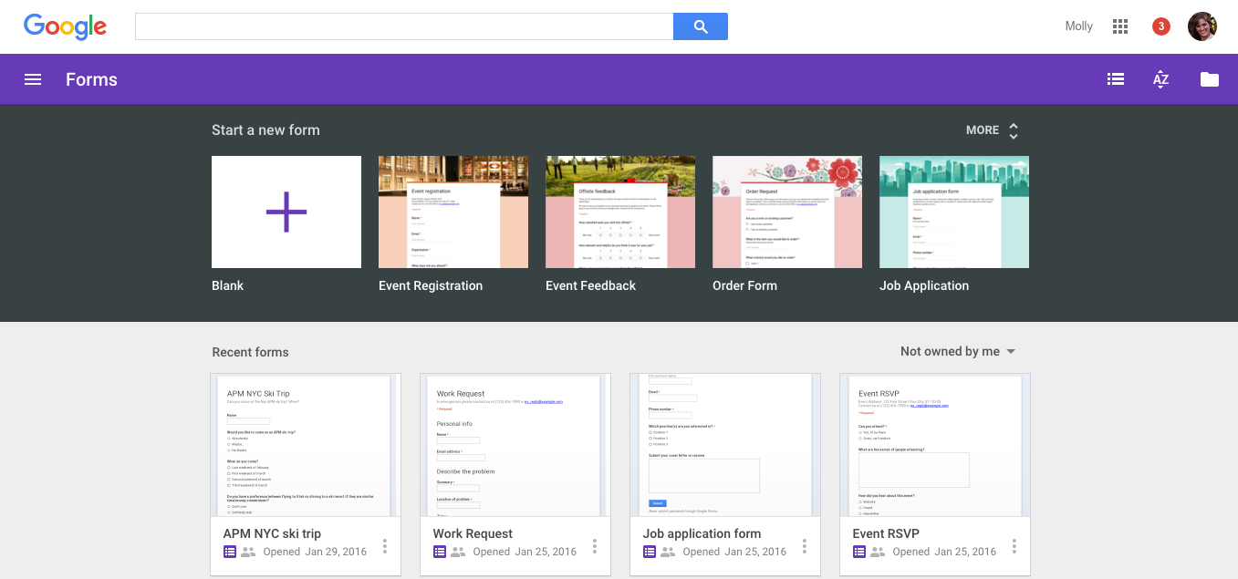 G Suite Updates Blog New Google Forms Now The Default Option With