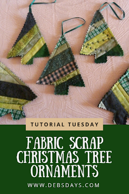 Homemade Scrap Fabric Quilted Christmas Tree Ornaments Sewing Project