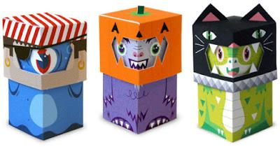 free Halloween paper toys printables