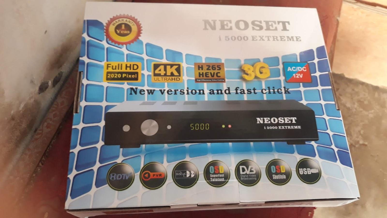 Neosat I5000 Extreme 4K HEVC H 265 with Server 12 Month Urdu