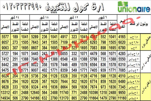 اسعار التكييفات فى مصر