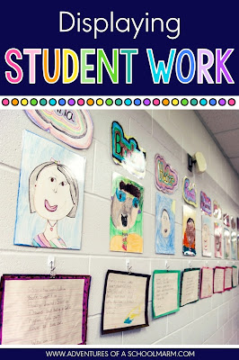 It is so important that students have a place to display their work for others. Command hooks and binder clips work in even the trickiest of locations!
