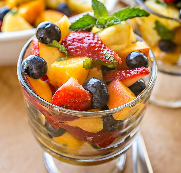 Rainbow Fruit Salad, as Sweet and Delicious as Summer Itself #vegetarian #salads