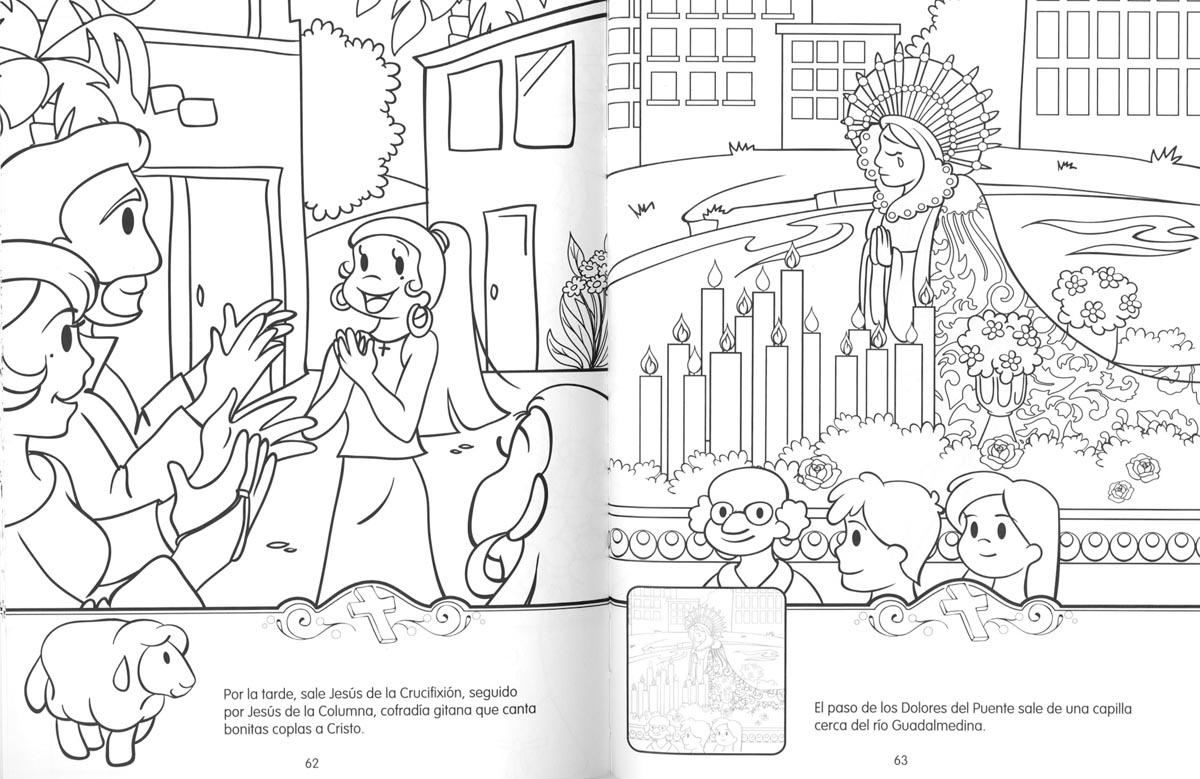 Dibujos Colorear Semana Santa Infantil: Educar Con Jesús: La Semana Santa (colorear Y Pegar