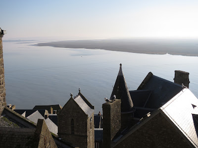 Les toits d'ardoise du Mont Saint Michel