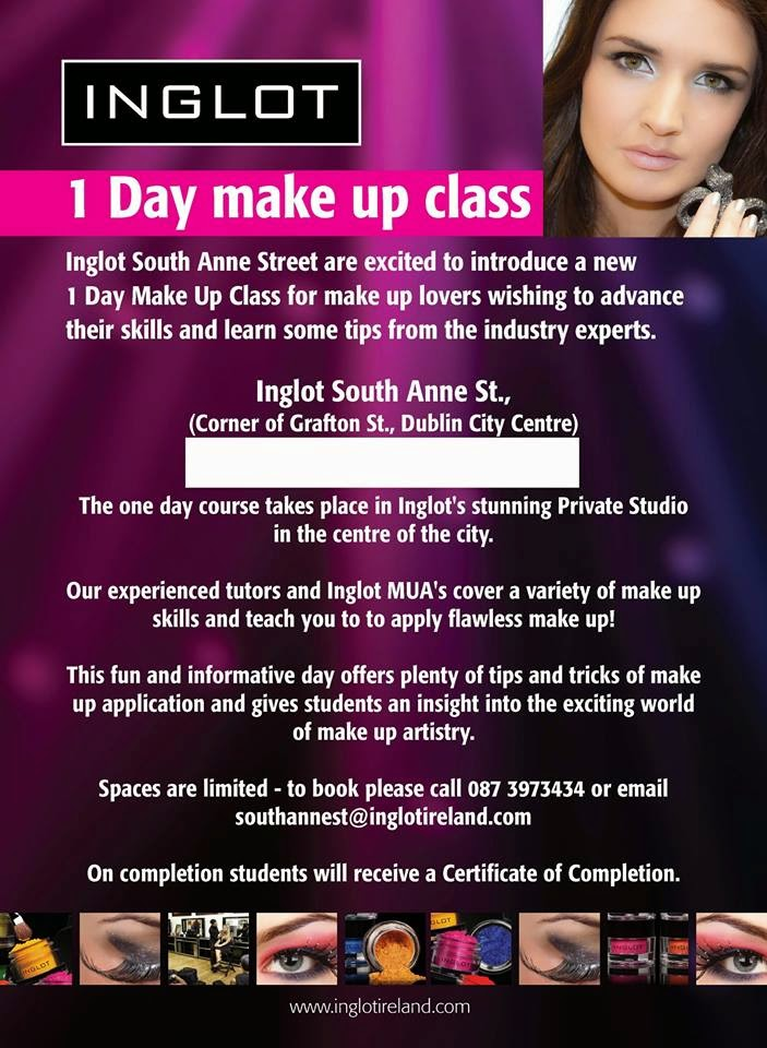 My Time The Inglot Advance Makeup Course Blanchardstown
