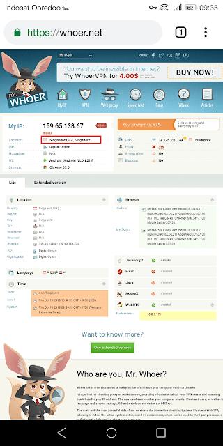whoet.net adalah situs untuk melihat ip address yang kita gunakan