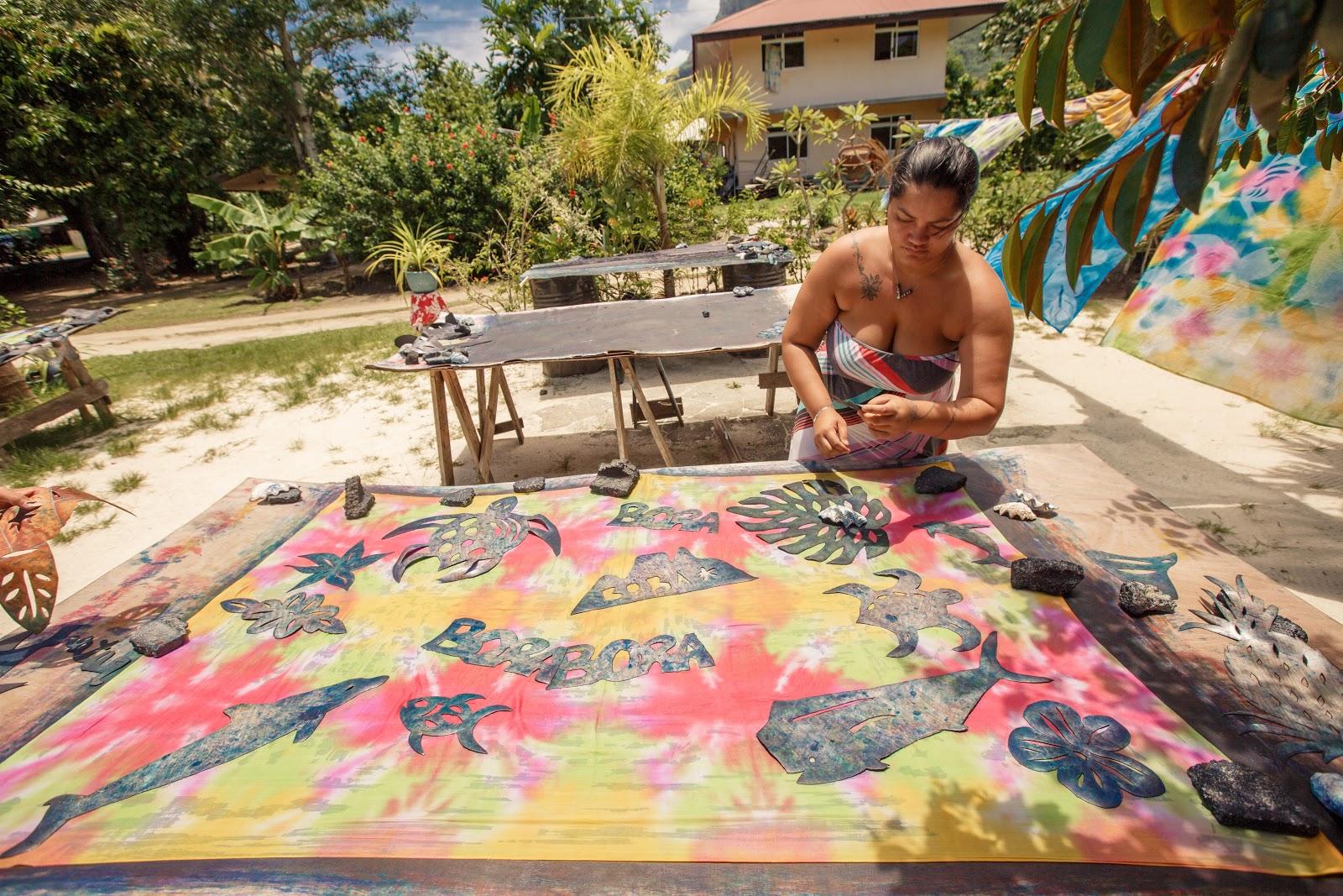 Bora Bora|手染大溪地Pareu布