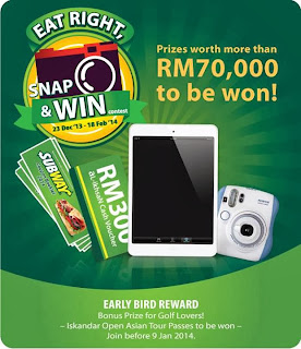 subway - CONTEST - Win a total RM70,000 worth of prizes