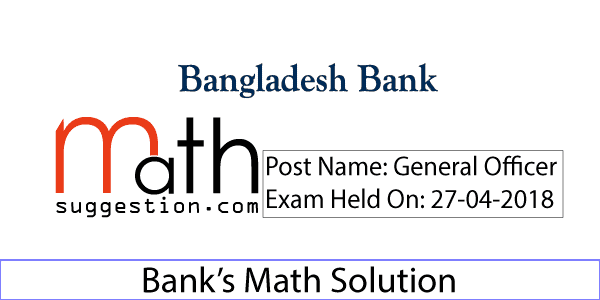 BB Officer (General) Math Solution 2018