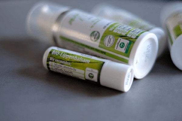 reizarmer Lippenbalsam ohne allergieauslösende Stoffe