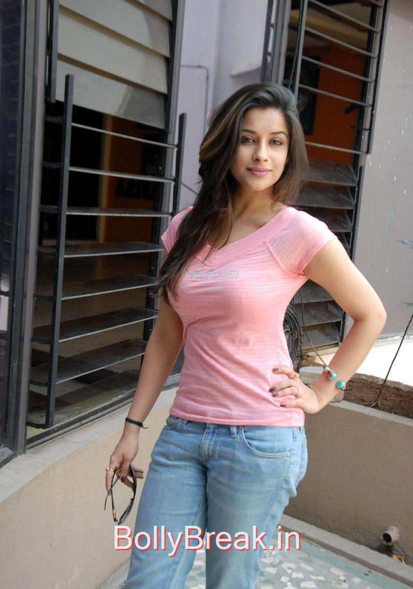 Madhurima Photos, Madhurima Hot Pics in Pink Top, tight Blue Jeans