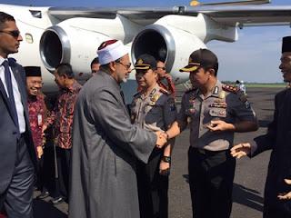 Transit Di Lanud,Grand Syeikh Al- Azhar Ke Ponorogo  Disambut Forkopimda Magetan