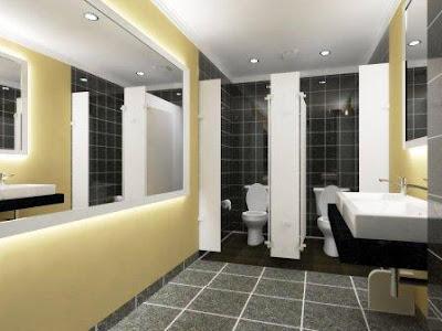 toilet dan wastafel kantor