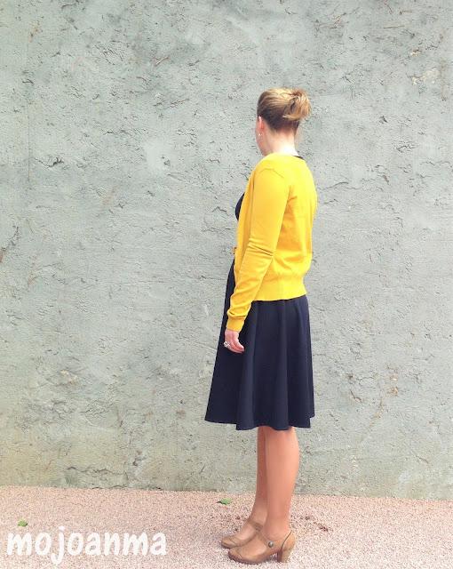 schneidernmeistern, kleines schwarzes, gelb,kleid