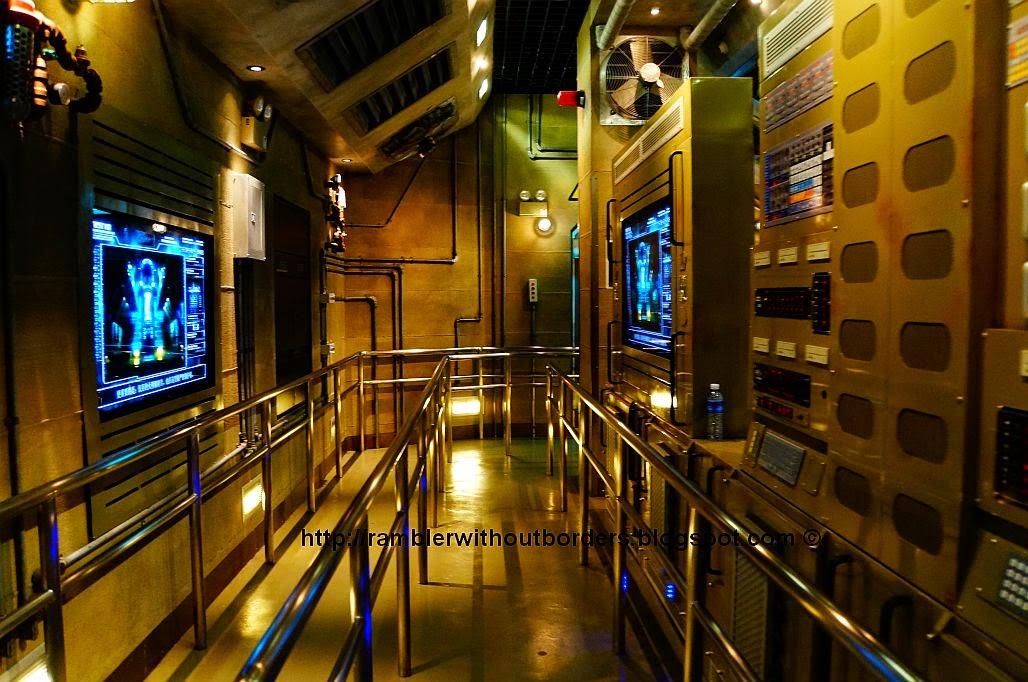 Queueing area in the Transformer ride in Universal Studios Singapore