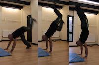 Kick up into handstand