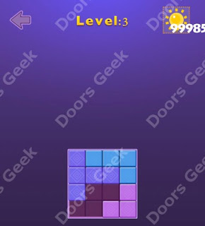 Cheats, Solutions, Walkthrough for Move Blocks Easy Level 3