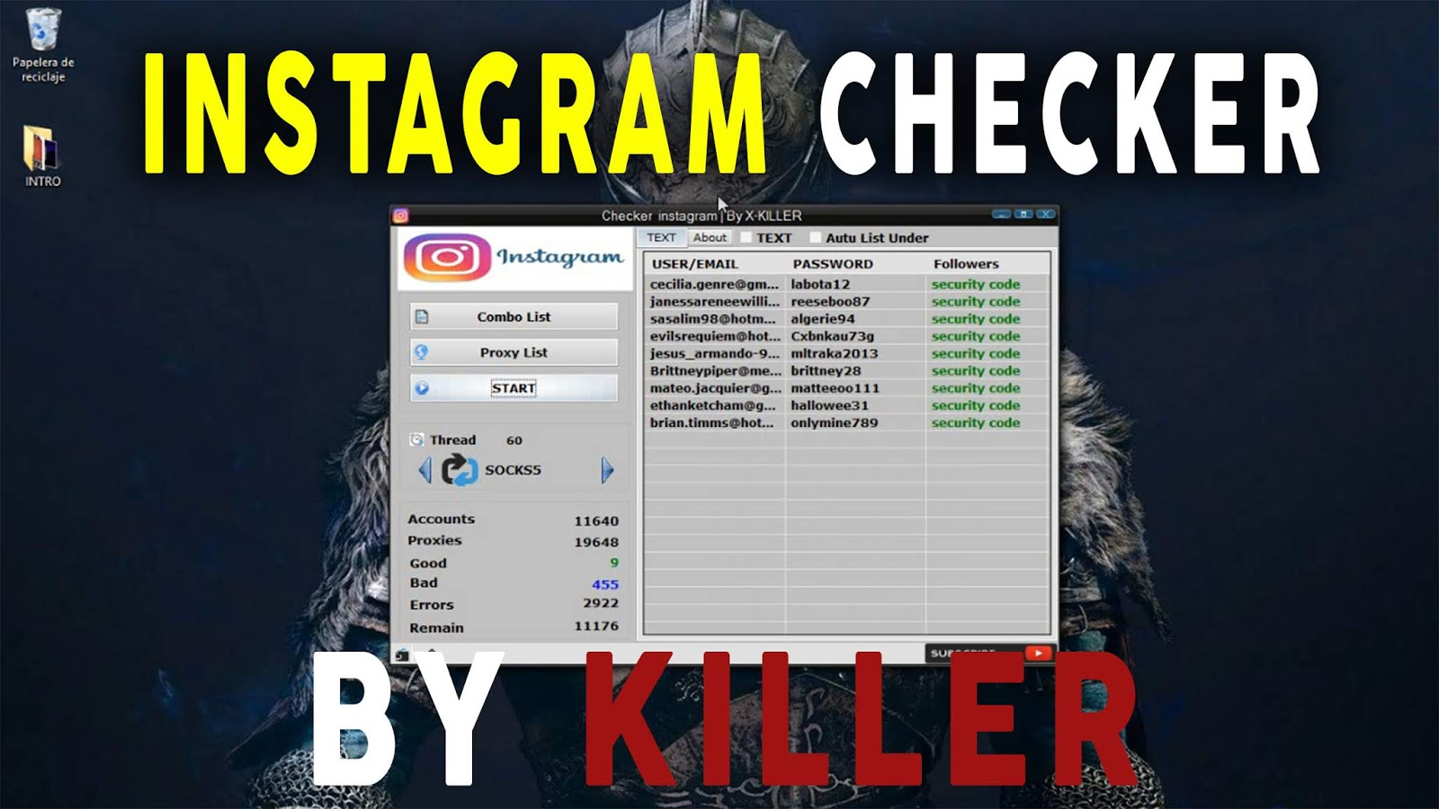 instagram Checker Account By X KILLER