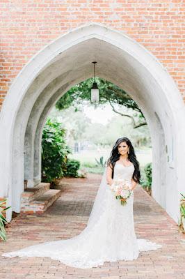 bride under archway