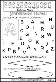 Atividade legal de alfabetização K