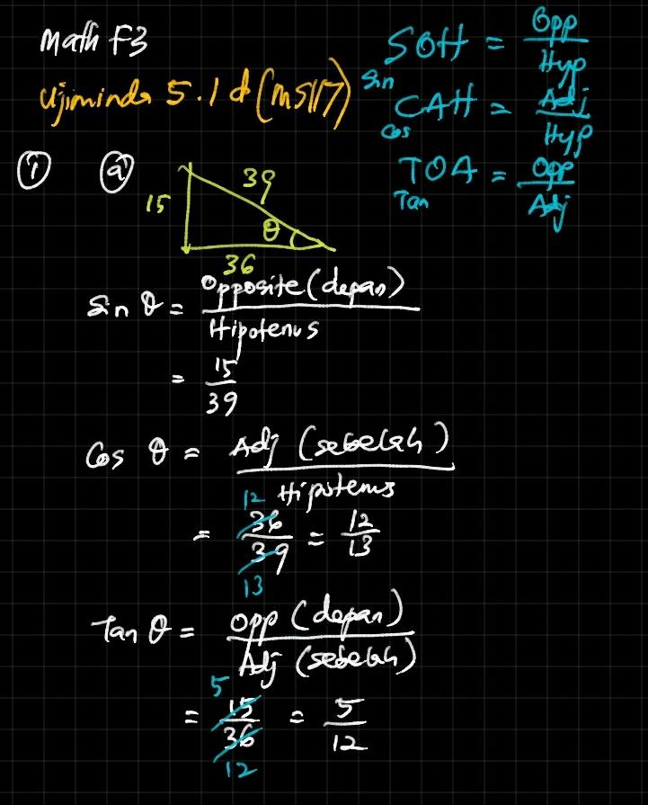 Cikgu Azman Bukit Jalil Bab 5 Nisbah Trigonometri Matematik F3