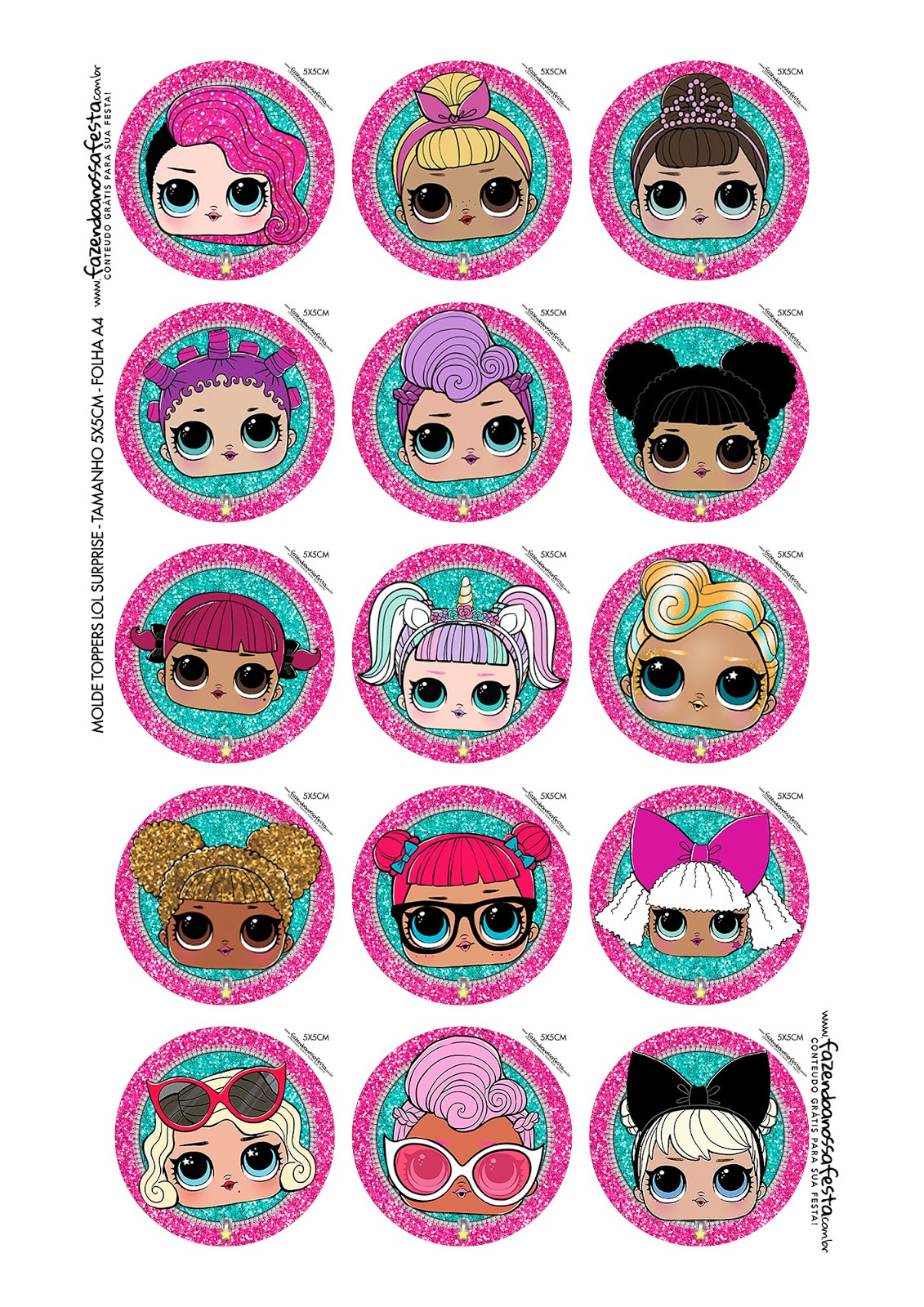 Lol Surprise Free Printable Toppers For Cupcakes Oh My Fiesta