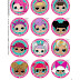 LOL Surprise: Free Printable Toppers for Cupcakes.