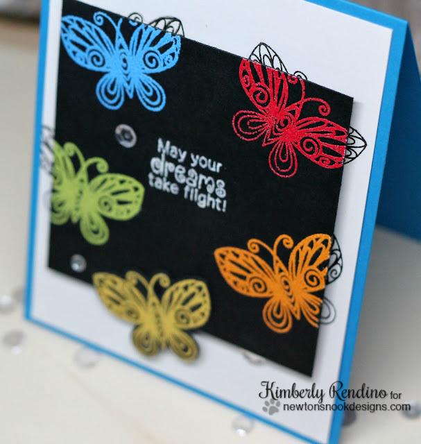 butterflies   sequins   rainbow   Newton's Nook Designs   kimpletekreativity.blogspot.com