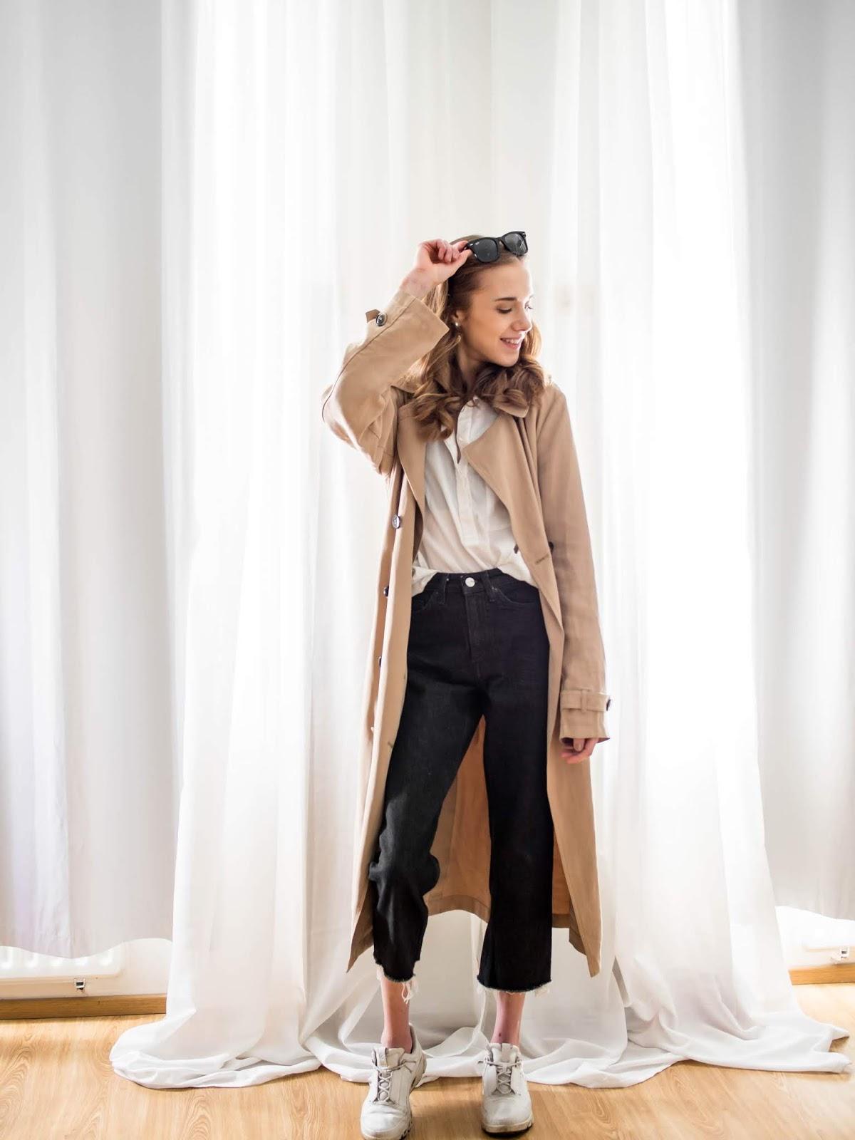 Trench coat outfit, Scandinavian fashion/style blogger - Asu trenssitakin kanssa, muoti-/tyylibloggaaja, Skandinavia