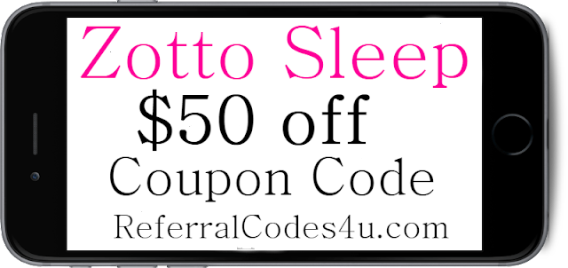 $50 off Zotto Sleep Discount Coupon Code 2018-2019 January, February, March, April, May, June