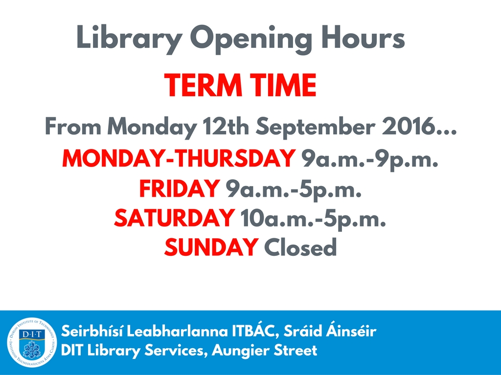 V Bathroom Opening Hours Of Dit Aungier Street Library