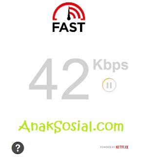 Ngetest kecepatan internet dengan fast.com