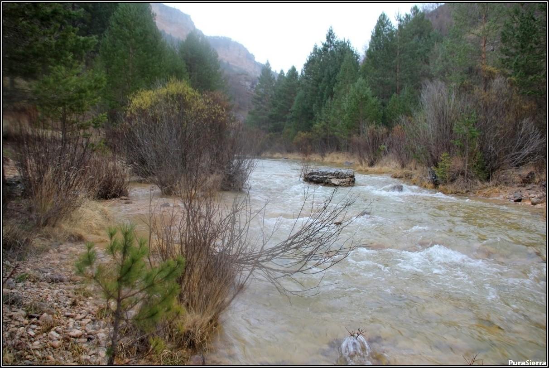 El Río Tajo justo antes de Las Juntas