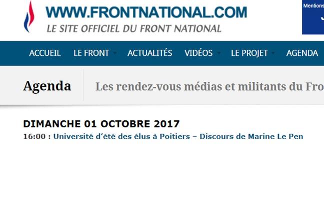 Capture d'écran du site http://www.frontnational.com/