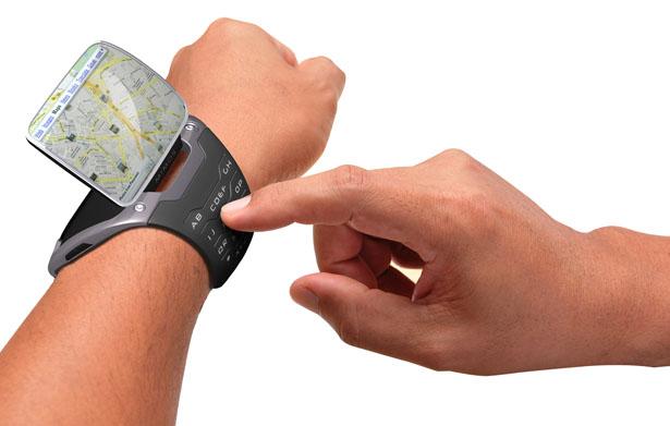 Genial reloj y computadora con un estilo muy futurista.
