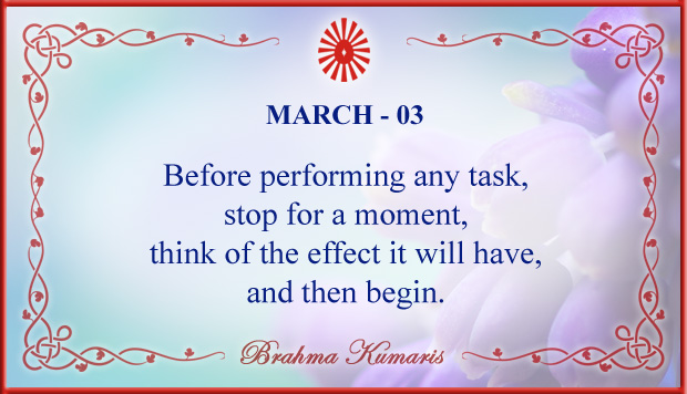 Thought For The Day March 3