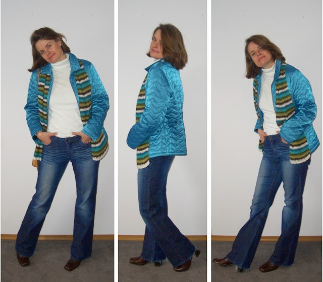 "Steppjacke in Petrol plus ""stumpfe"" Stiefeletten"