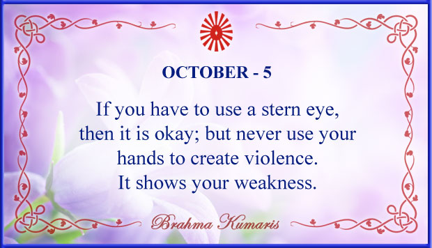Thought For The Day October 5