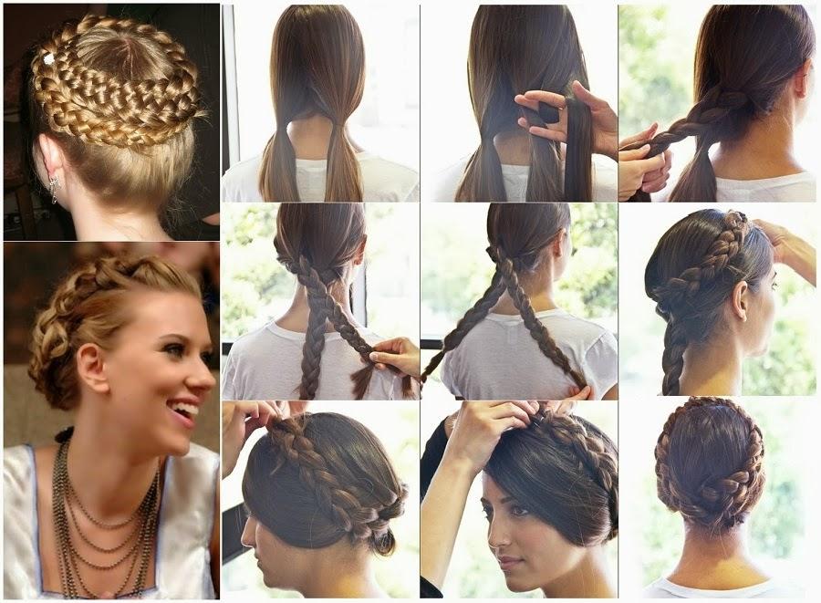 Stupendous Diy Crown Braid Tutorial For Medium Long Hair Video Goodiy Short Hairstyles For Black Women Fulllsitofus