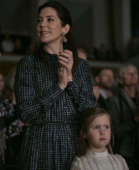 Crown Prince Frederik, Crown Princess Mary, Princess Isabella, Prince Vincent, Princess Josephine, Prince Christian, Countess Alerxandra, Prince Felix and Prince Henrik, Princess Mary wore Prada Dress, Gianvito Rossi Pumps and By Malene Birger Coat, Princess Isabella wore Bonpoint coat