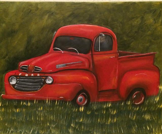 #redford- #oldtruck- #redcar- #classicford-#artedonypasion-#cynthiar