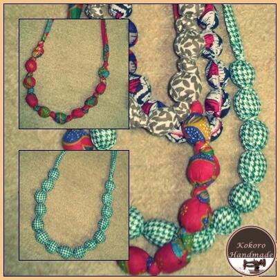 più amato 2e24b b0293 kokoro handmade: DIY: le collane di stoffa - fabric necklace