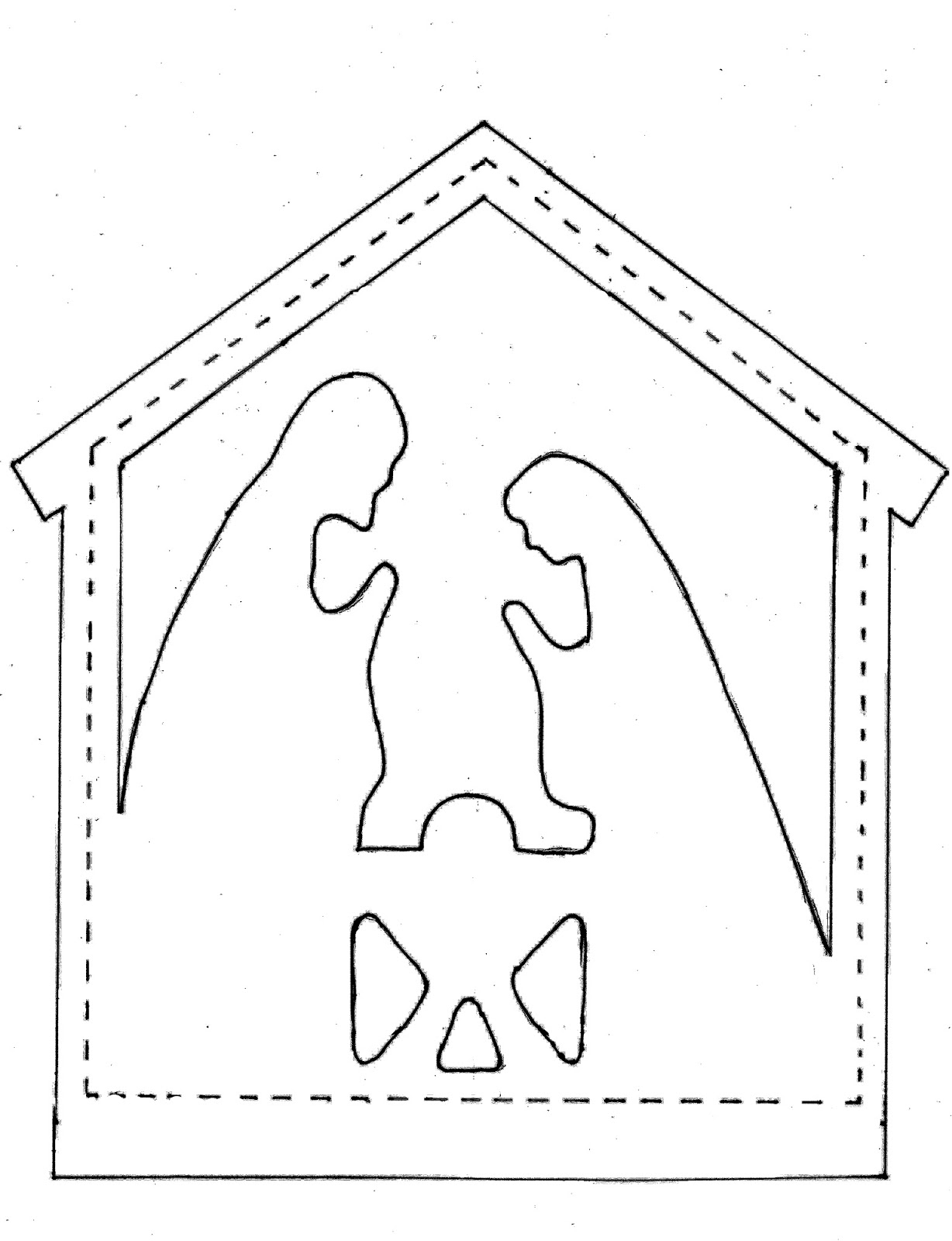 nativity template patterns patterns kid